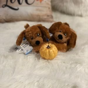 NWT BUILD A BEAR PUPPY SLIPPERS SIZE (M 12/13)